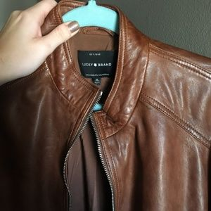 Lucky Brand Jackets & Coats - Brown Leather Jacket